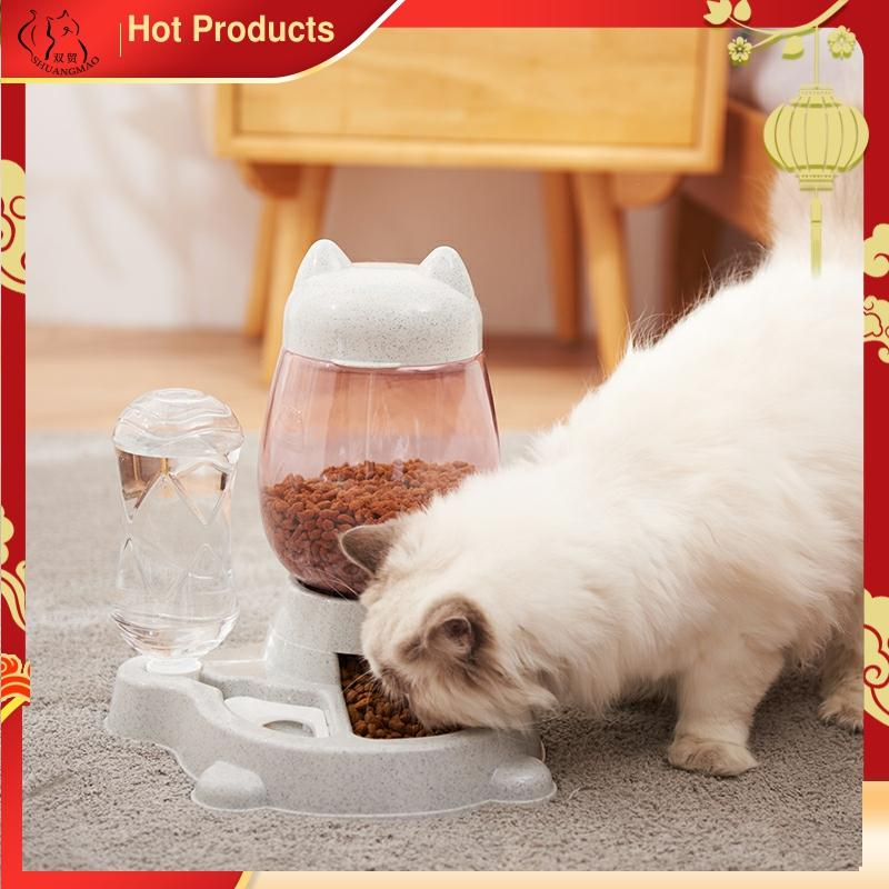 2.2L 애완견 고양이 개를위한 자동 피더 그릇 식수 528 ml 병 새끼 고양이 그릇 슬로우 푸드 먹이 용기 용품