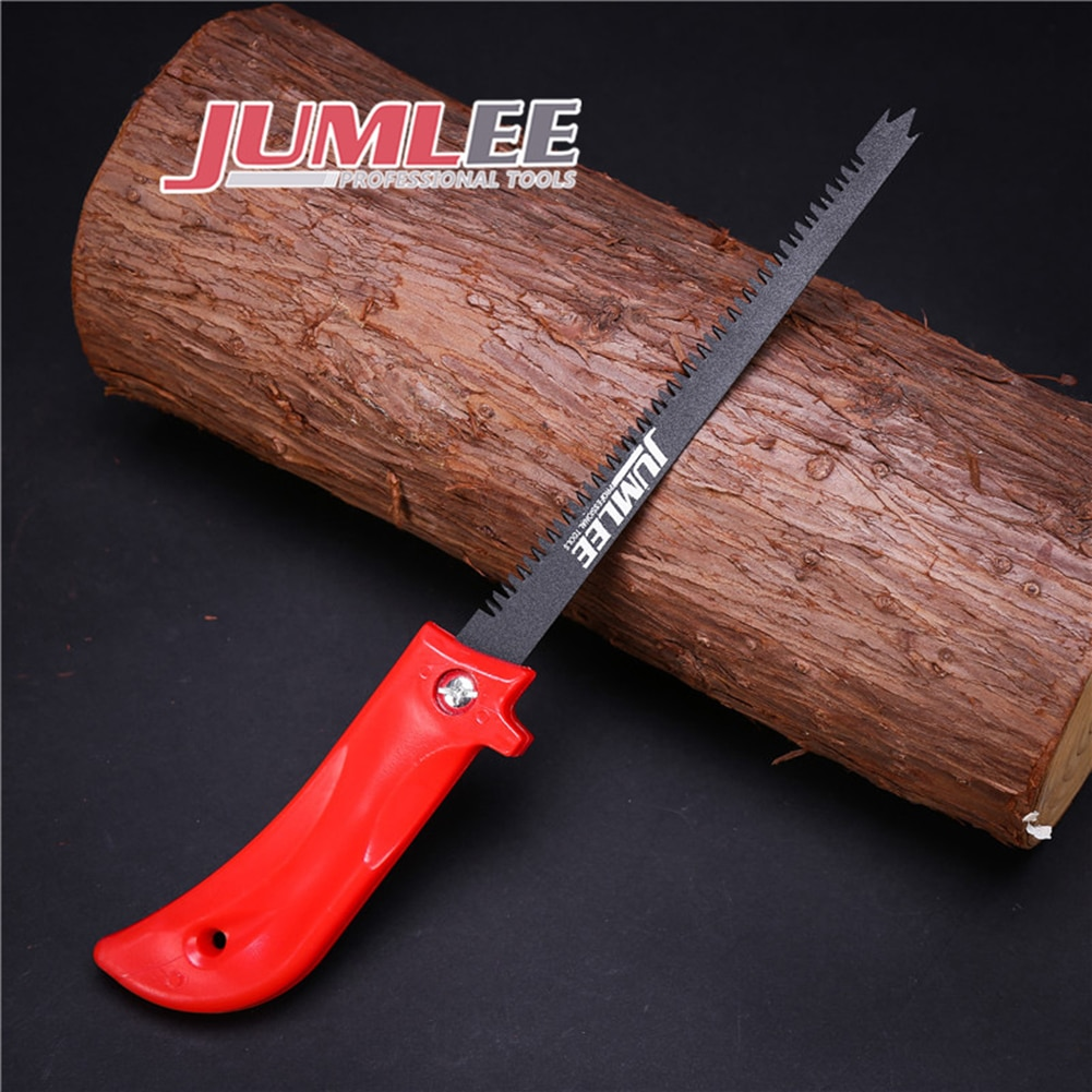 Jumlee manual 2 em 1 serra à mão jardim fruit tree carpintaria viu 290mm 24 dentes viu lâminas de roda disco cortar ferramentas rotativas broca