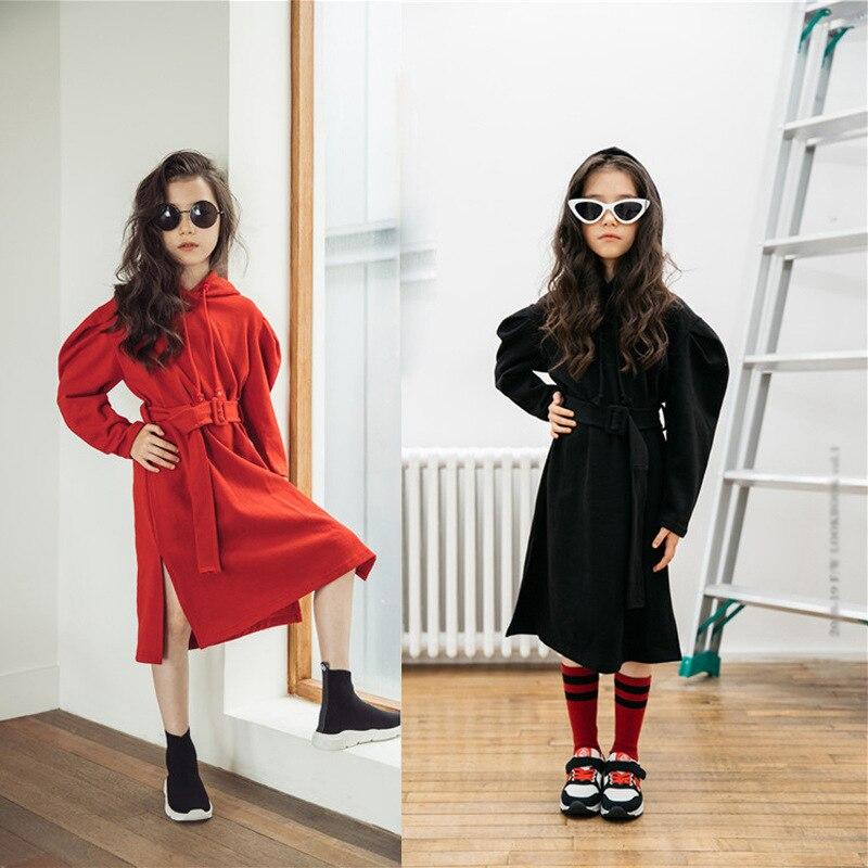 Girls Dresses New 2019 Girls Autumn Sweatshirt  Dress Baby Children Casual Dresses for Kids Leisure Hoodies Cotton Causal,#3274