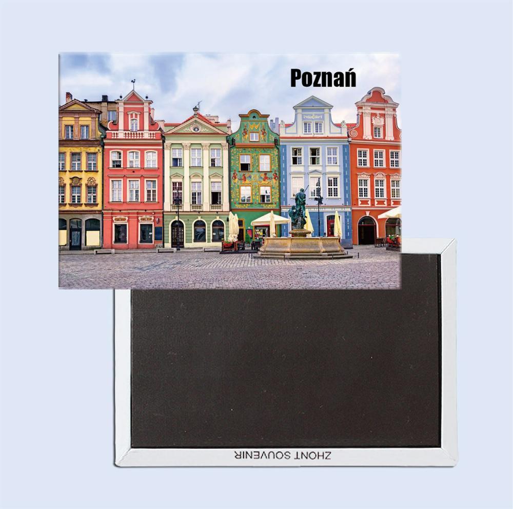 Poznan, paisaje de Polonia 25236 imán refrigerador, recuerdos turísticos, adornos creativos para el hogar
