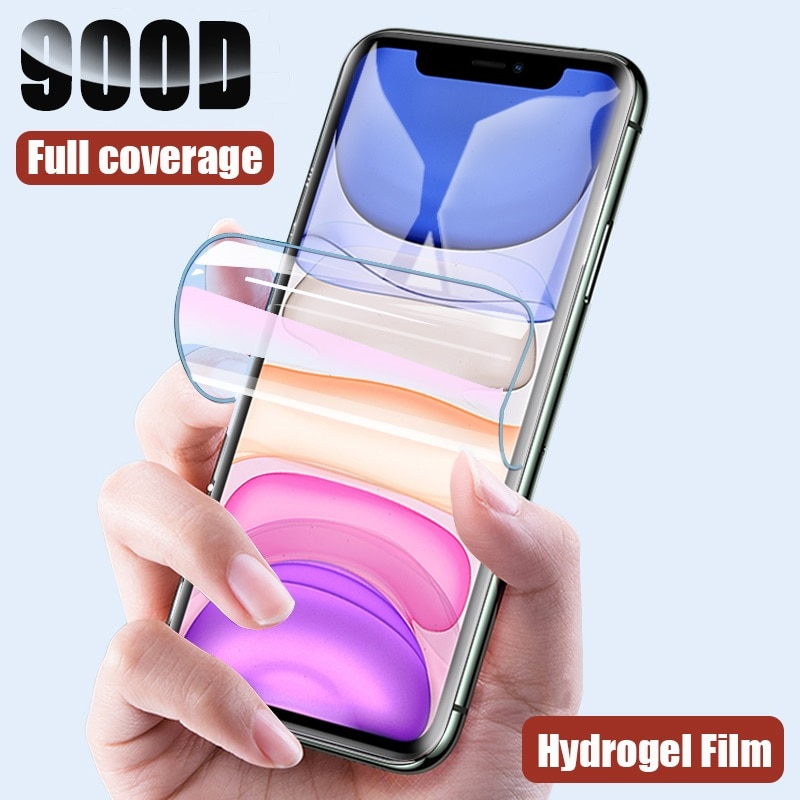 Protective Hydrogel Film for iPhone 11 Pro XS Max X XR Screen Protector for iPhone 8 7 6 6s Plus (Not Glass)Film Protection Foil