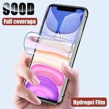 Película protectora de hidrogel para iPhone 11 Pro XS Max X XR, Protector de pantalla para iPhone 8 7 6 6s Plus (sin vidrio), lámina protectora
