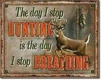 stop hunting stop breathing retro tin sign street garage cafe bar crafts metal tin sign 8x12inch