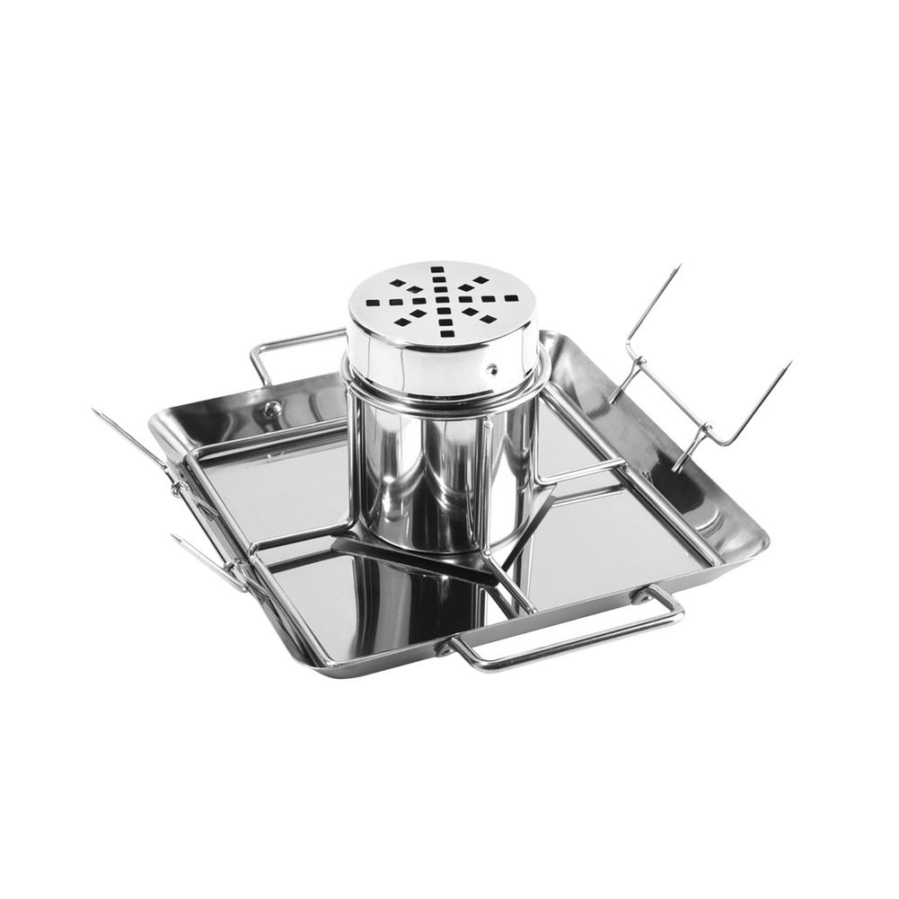 Stainless Steel Beer Can Dish Grilled Chicken Roaster Rack Outdoor BBQ Grill Rack Stand Holder Tray Chicken Plate With Beer Can