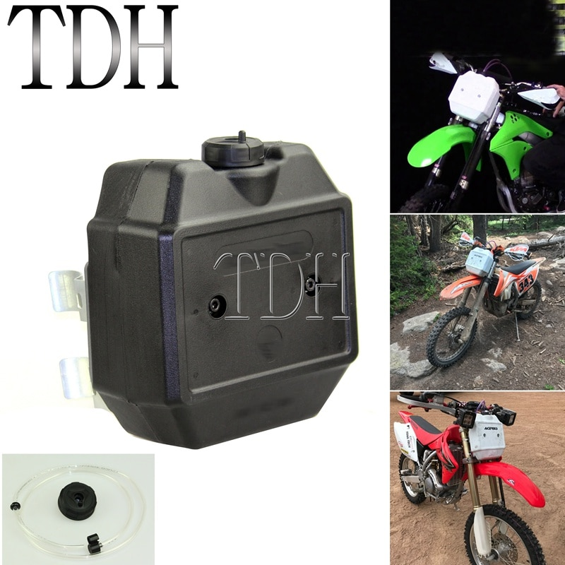 Dirt Bike Motocross, Supermoto Off Road, tanque de combustible auxiliar de 1,3 galones, tanques de aceite de Gas de 5l para Honda Kawasaki KTM CRF KLX WR TTR EXC XR