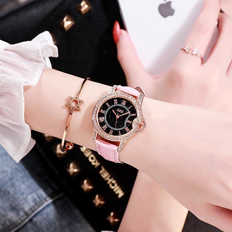 Luxury Women Watches Leather Starry Sky Female Clock Quartz Wristwatch Fashion Ladies Wrist Watch Reloj Mujer Relogio Feminino luxury watch for women fashion leather band diamond quartz clock waterproof ladies watches female wristwatch hodinky reloj mujer