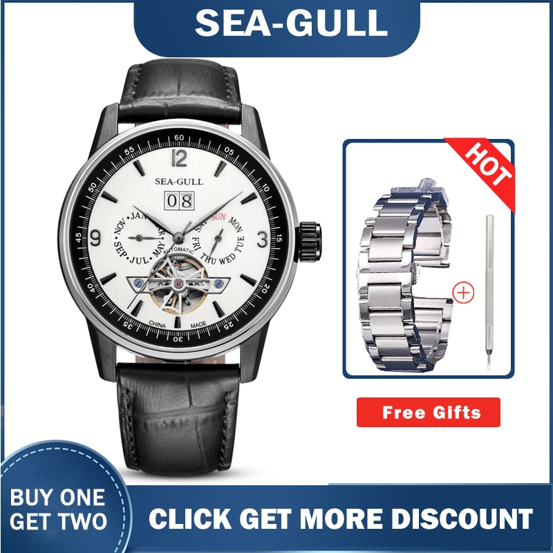 Men's Watches Seagull  219.328 Automatic Mechanical Self Winding Classic Flywheel Watches for Men 2020 Luxury