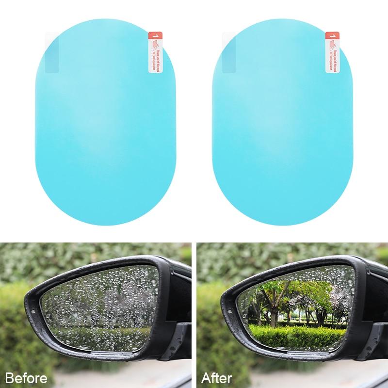 2 uds ventana antiniebla transparente impermeable protector para espejo retrovisor película suave Auto accesorios espejo retrovisor para coche película protectora