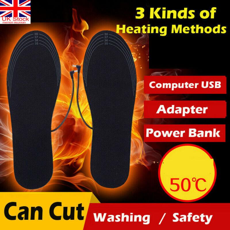 Palmilhas aquecidas elétricas da sapata pés de meia quentes calefator usb pé inverno almofada mais quente reino unido