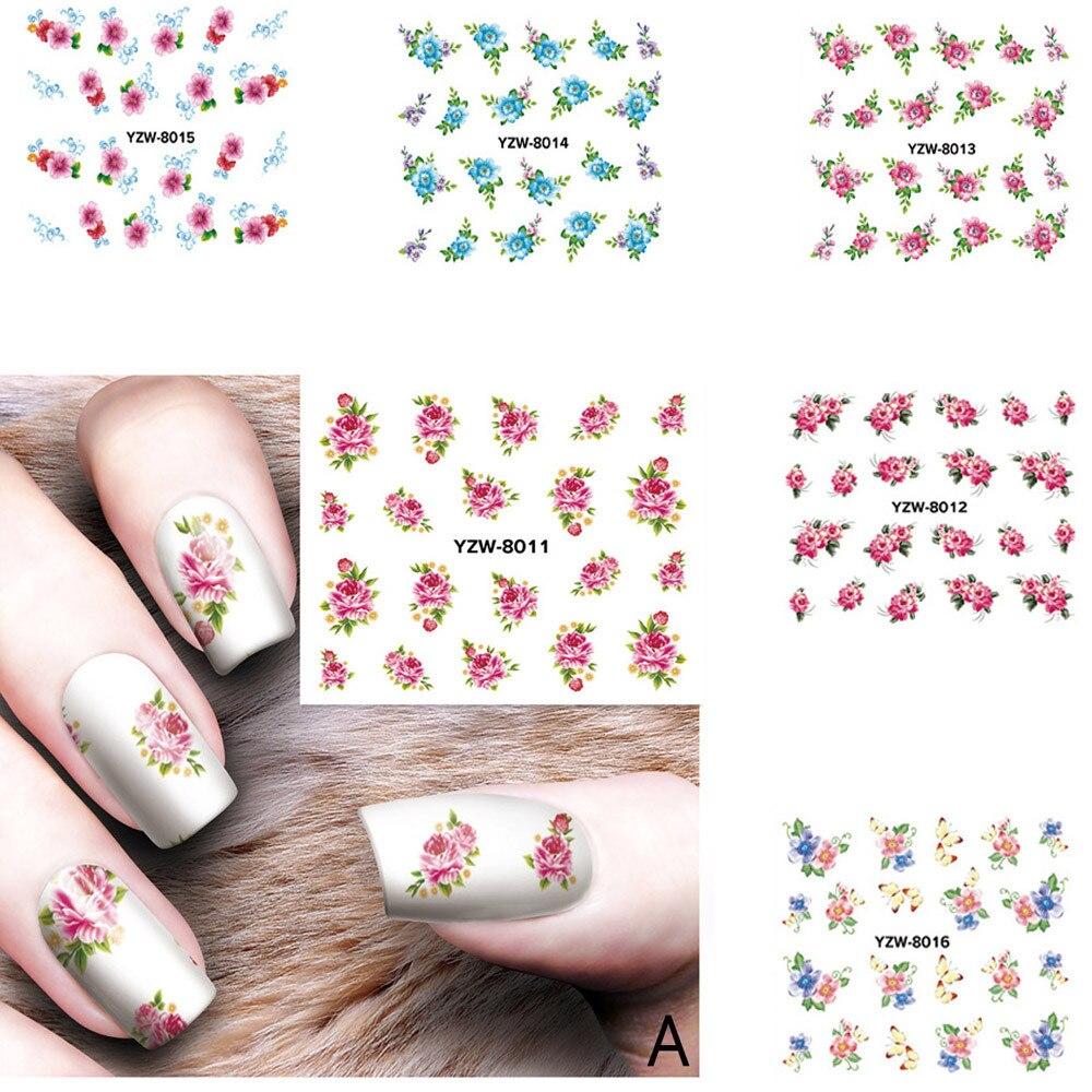 1 Pc 3D Nagel Applique Wasserzeichen Gemusterte Nail Zurück Kleber Aufkleber Nail art Nail art Dekoration Nagel Aufkleber Aufkleber Werkzeuge