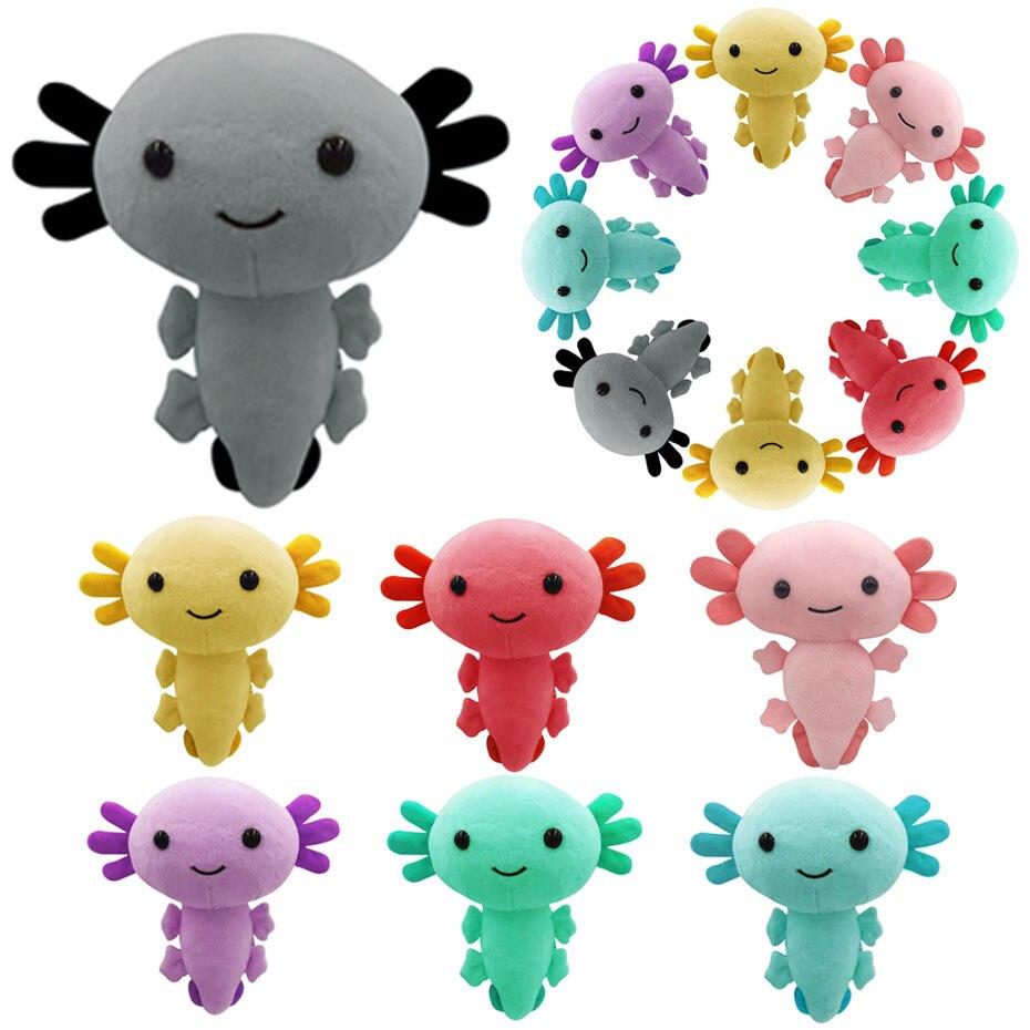 Kawaii Axolotl плюшевые игрушки, животные Axolotl плюшевые фигурки Куклы Мультяшные животные мягкие розовые Axolotl мягкие куклы для детей Подарки
