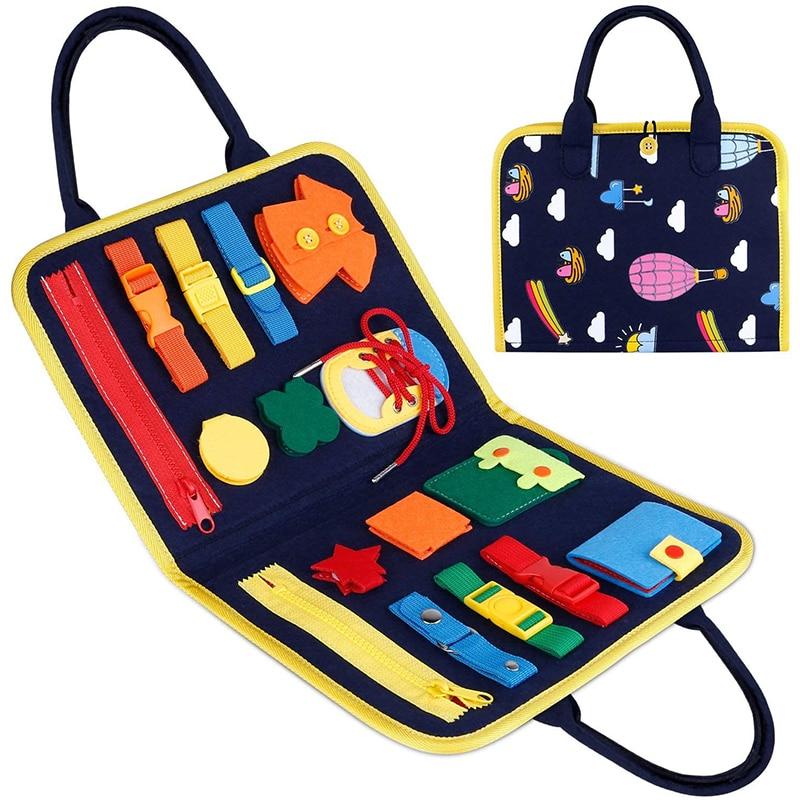 Игрушки Монтессори для раннего обучения мелкой моторики, самоуход, игра для детей, Дошкольная Детская игрушка для девочек и мальчиков