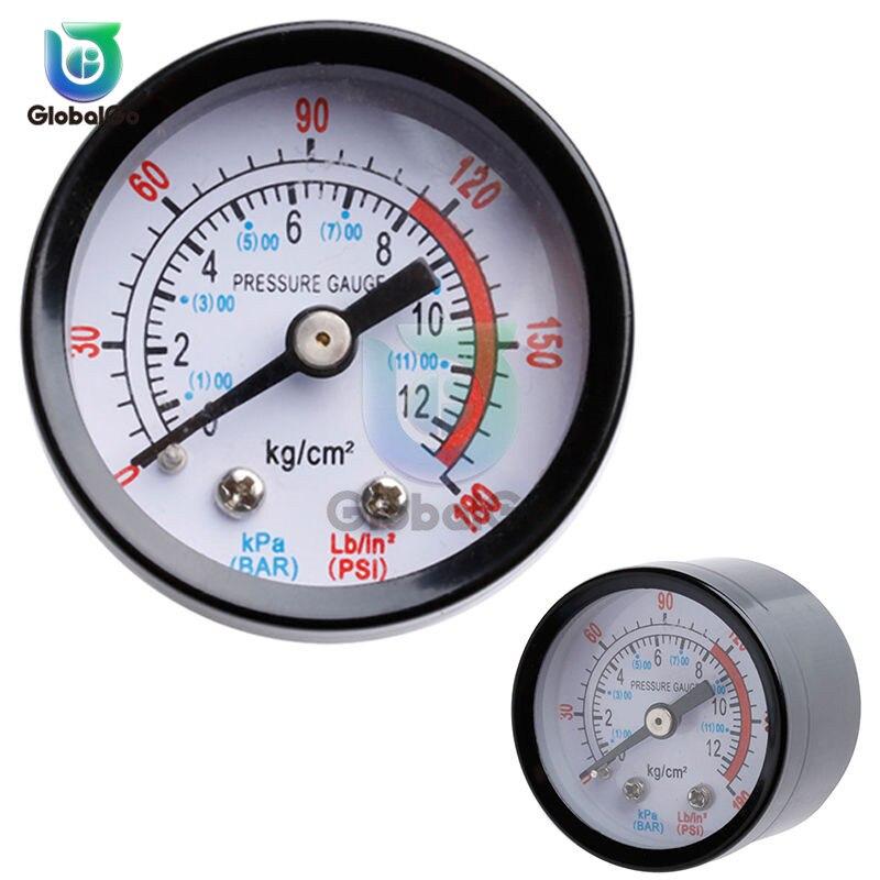 Compresor de aire neumático presión del fluido hidráulico de 0-12Bar/0-180PSI 1/4 BSP 8/4 BSP medidor de presión de manómetro