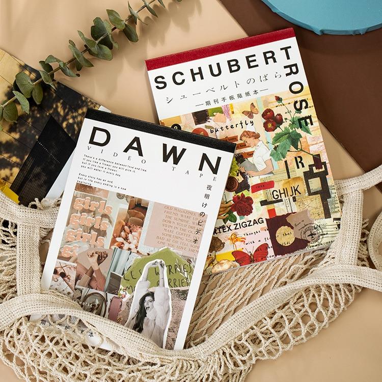 50-fogli-retro-serie-di-riviste-adesivi-decorativi-libro-scrapbooking-fai-da-te-stick-etichetta-diario-cartoleria-album-adesivi-di-giornale