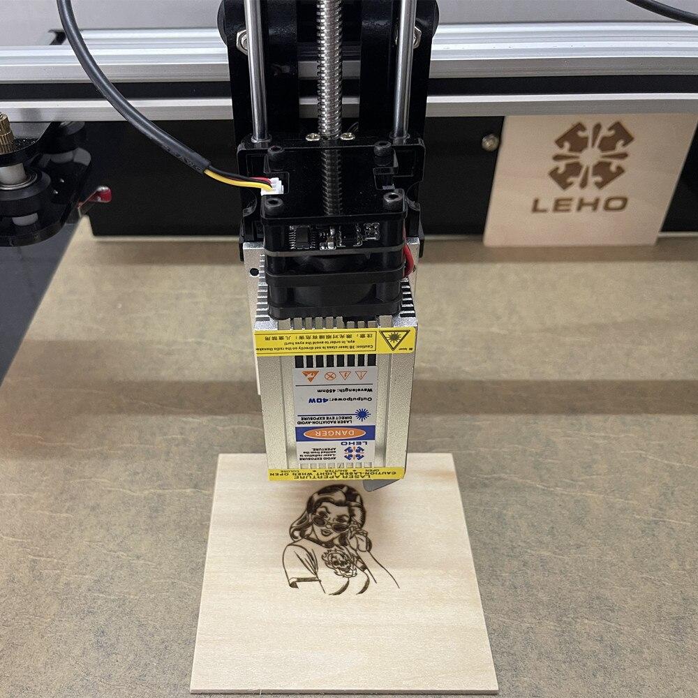 LEHO 40W Laser Module Laser Head CNC Blue Laser Engraving Module 450nm Laser Engraving and Cutting Module Fast Engraving enlarge