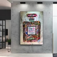 Toile imprimee avec Graffiti  parfum  Art de rue  peinture murale  mode moderne  femmes  decoration de maison  affiche