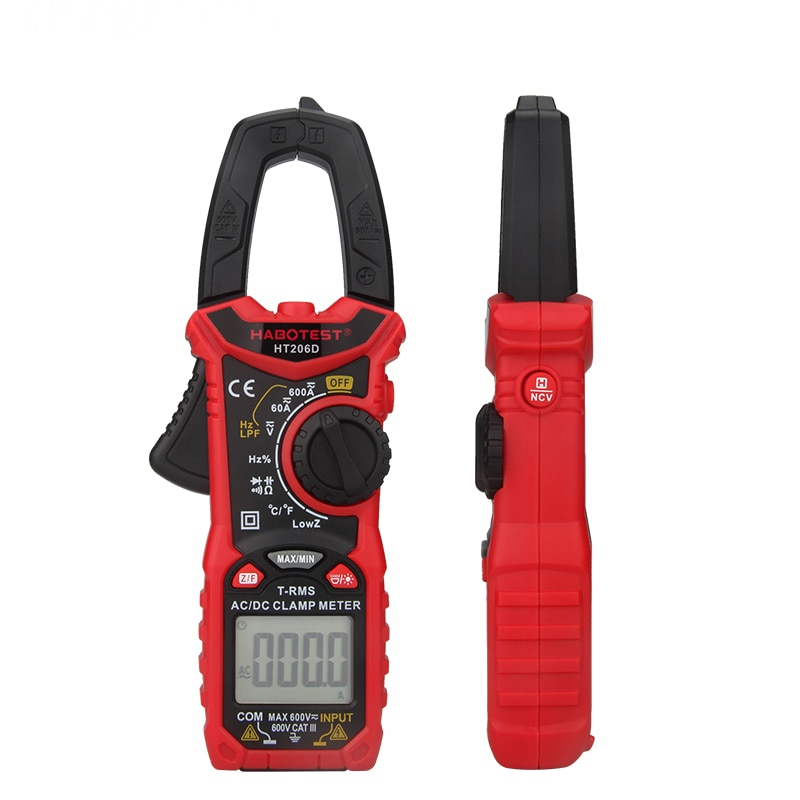 Medidores de Tensão Escala Automática Mini Digital Braçadeira Atual 600v Verdadeiro Rms Multímetro Capacitância Profissional Testador Case Macio