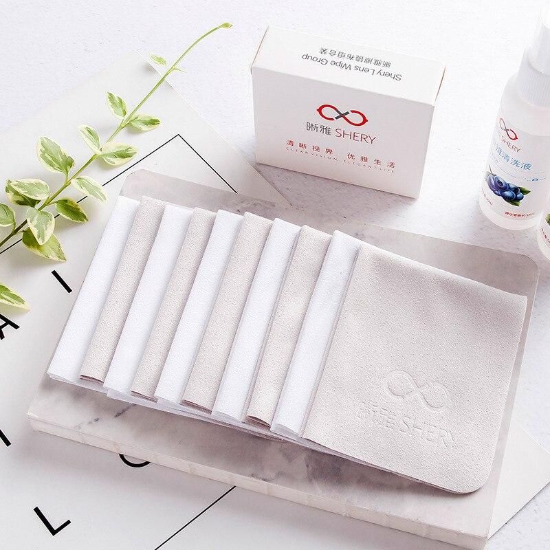 10 pièces lunettes tissu doux coton peau de cerf haute qualité professionnel essuyer téléphone portable écran chiffon de nettoyage