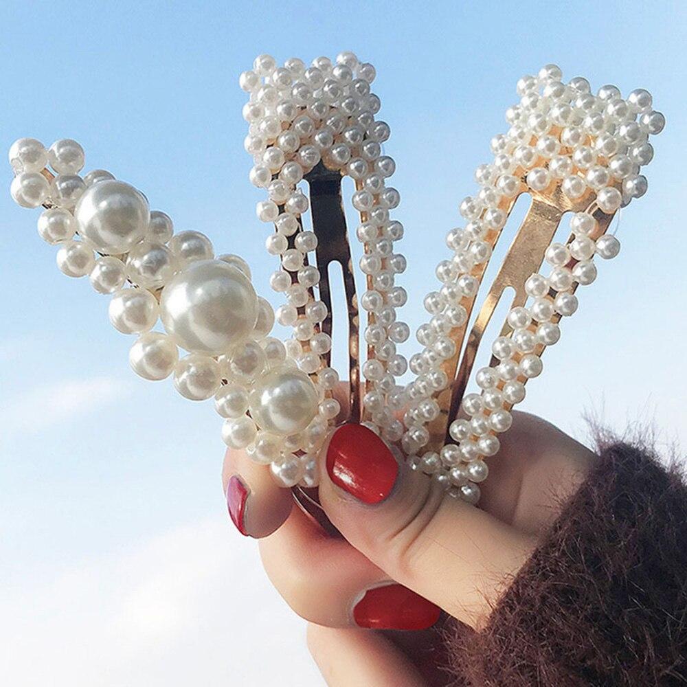 Фото - 2 шт. Заколка для волос с имитацией жемчуга, элегантная заколка ручной работы с жемчугом и цветком, заколка для женщин и девочек, заколка для ... заколка aiyony macie aiyony macie mp002xw0izea