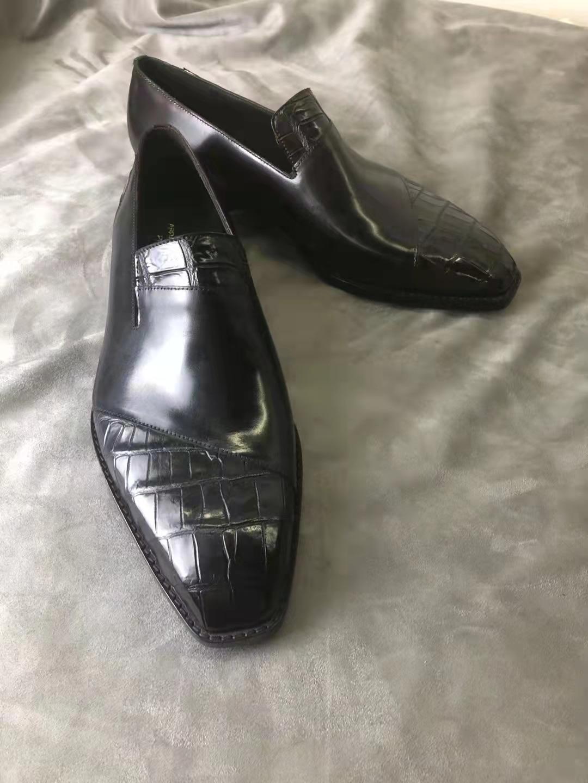 الرجال جلد العجل أحذية خفيفة أنيقة ماركة فاخرة اليدوية Lefu الأحذية الاجتماعية مكتب الأعمال الزفاف أحذية رجالي