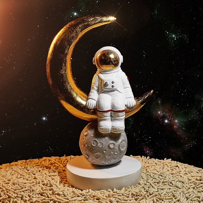 Nordic Space Astronaut Sculpture Galaxy Astronaut Desk Decor Home Decoration Accessories Children Toy Birthday Gifts Cartoon