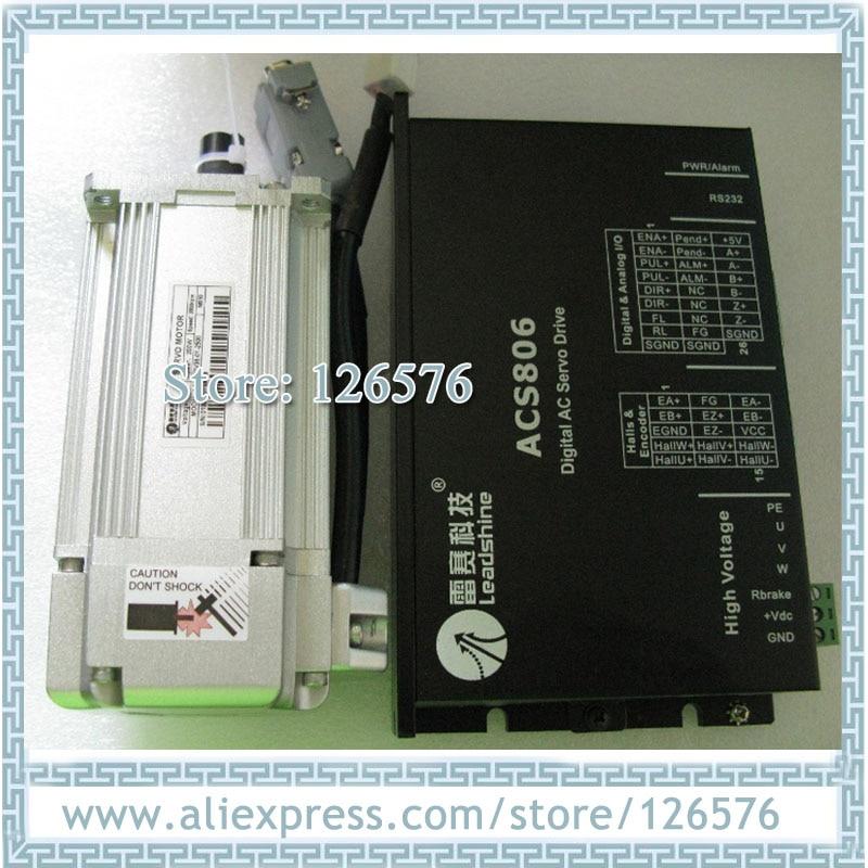 Motor leadshine sin escobillas Servo motor 36VDC 200w 3000rpm servomotor codificador 2500 línea ACM602V36-01-2500 + ACS806 servocontrolador