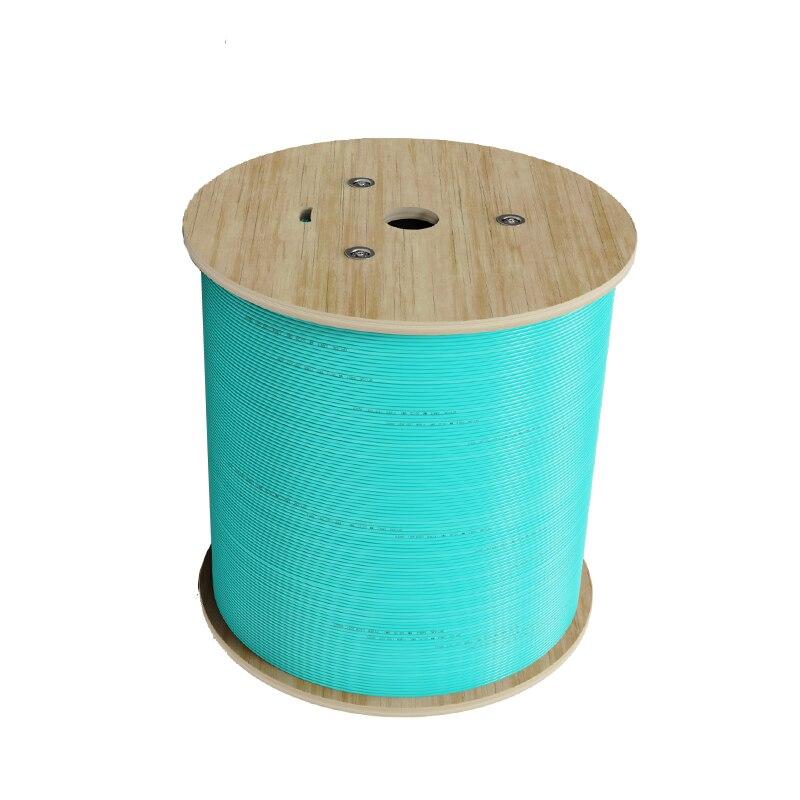 Indoor Fiber Optic Cable 1000mRoll 2.0-3.0mm OM4 Single Core Multimode LSZH Out Sheath Aqua Green Fiber Indoor Optical Cable enlarge