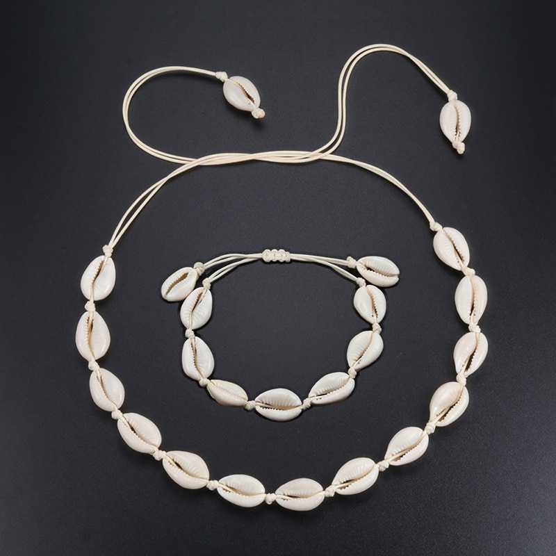 ¡Oferta! Collar de estilo europeo de concha marina blanca Natural, joyería tejida a mano para mujer, accesorios creativos de concha, accesorios al por mayor