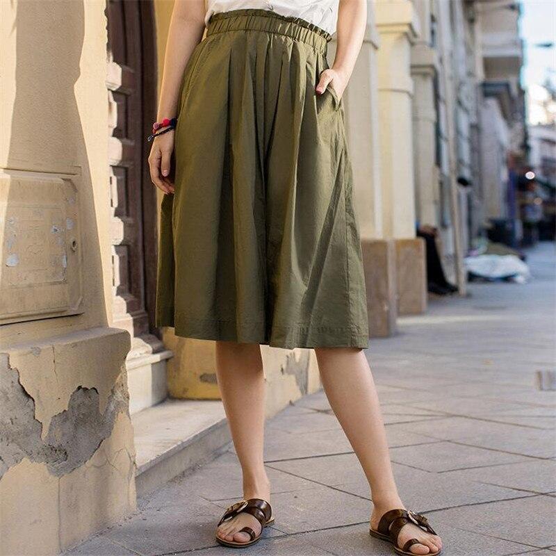 Novo tamanho grande 7xl 2020 cor sólida saia feminina casual para a menina plissada saia feminina algodão linho vintage roupas bottoms