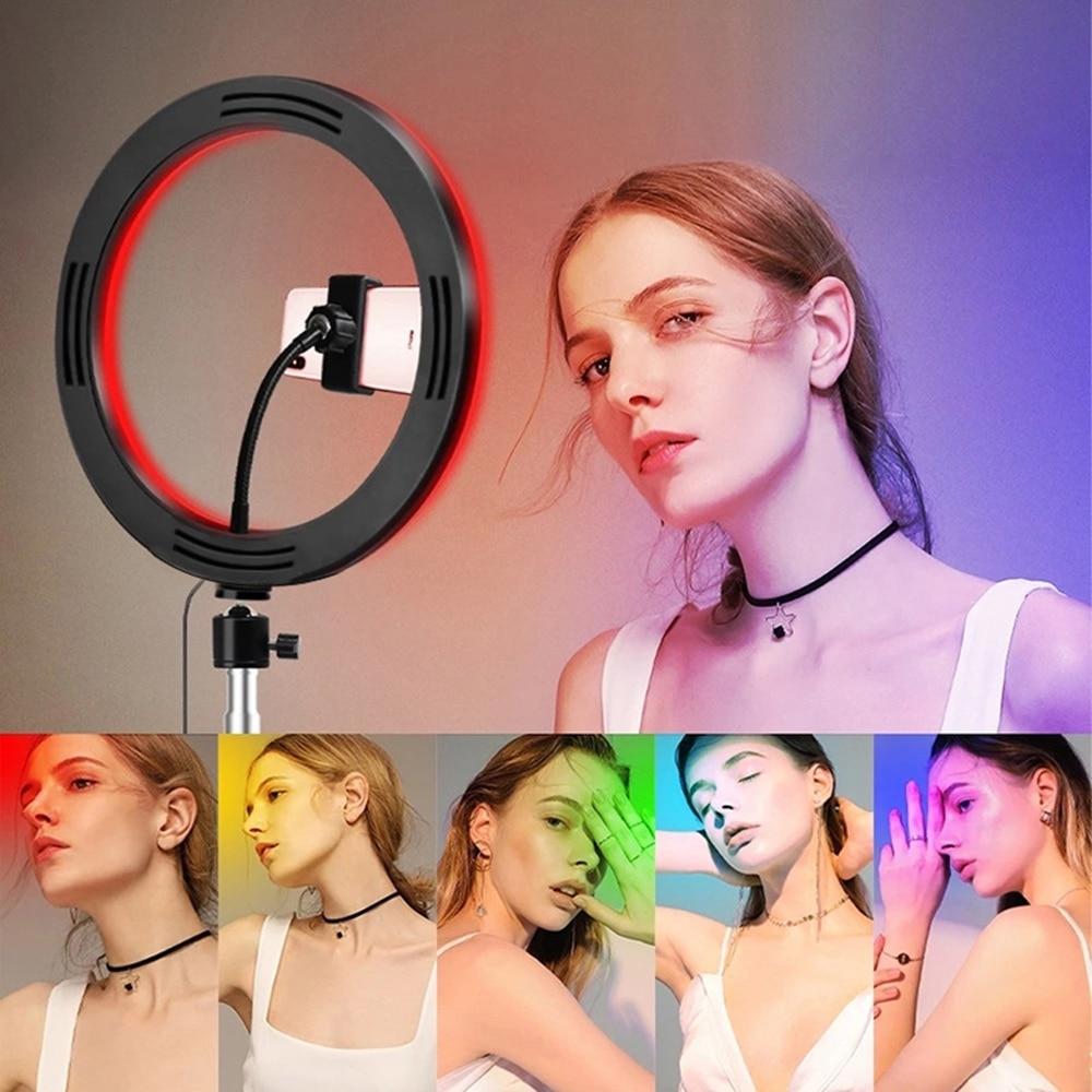 Rgb Live Licht Vullen Licht Kleurrijke Netto Rode Ring Licht Marquee Led Film En Televisie Sfeer Rendering Heldere Spier Licht