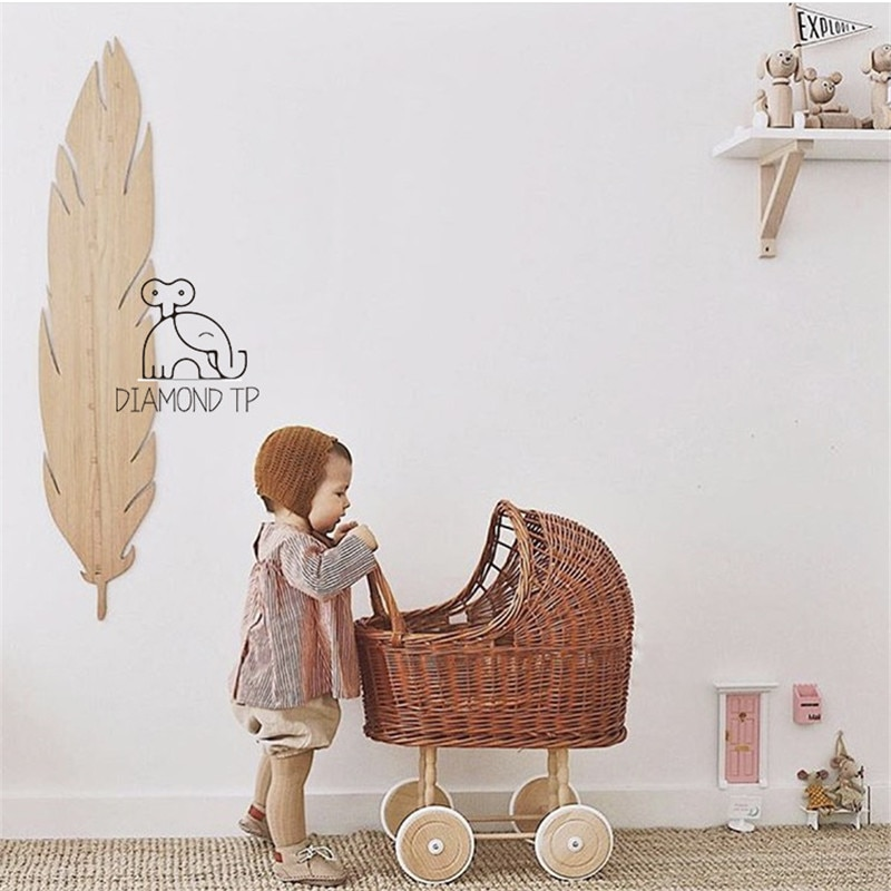 Baby Photography Props Retro Rattan Baby Stroller Toy Photo Studio Baby Doll Carriage Children's Room Decoration Baby Doll Cart enlarge
