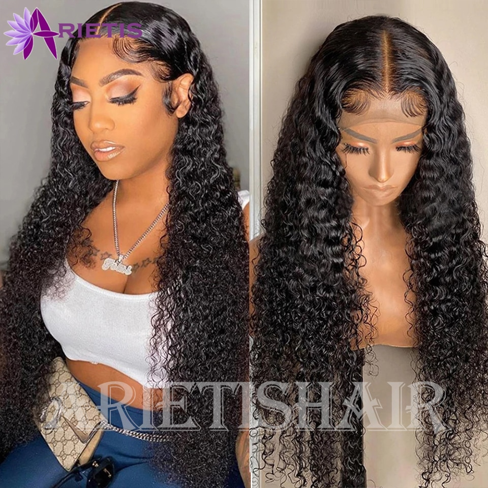 28 30 13x4 13x6 Lace Front Human Hair Wigs Curly Human Hair Wig For Black Women Pre-Plucked With Baby Hair Brazilian Remy Wig