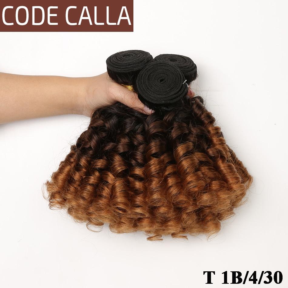 Ombre Peruvian Bouncy Curly Hair Weave Bundles Code Calla 8-26inch T1B/4/27 Human Hair Extensions 1/3/4 Bundles Deal T1B/4/30
