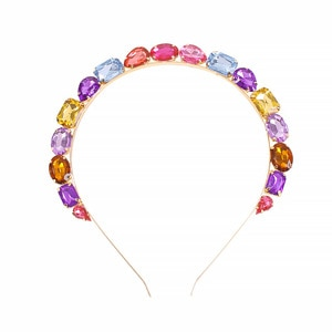 Crystal Gem Baroque Headbands For Women Diamond Hair Accessories Pearl Headband for Girls  Crown Flower Hairbands Head Wrap