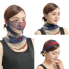 Spring Summer Chiffon Neck Collar Scarf Women Head Thin Sunscreen Variety Small Silk Anti-UV Scarf M