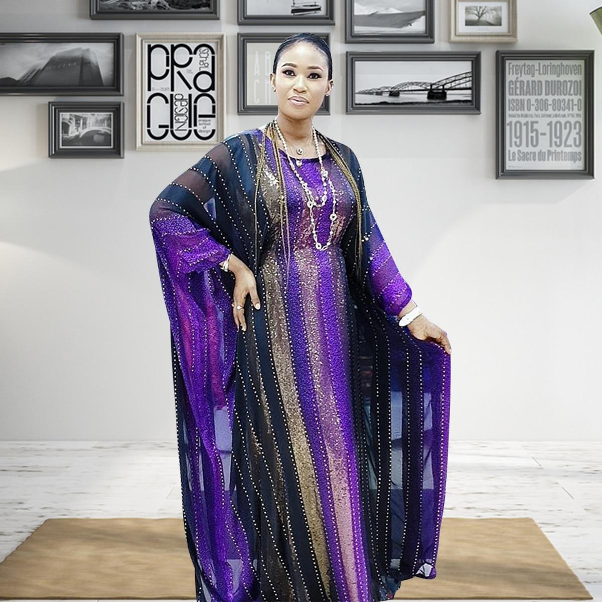 عباية دبي شمسية من أقمشة مخططة فستان إسلامي سيدة حفلة ملابس أوروبية ملابس أمريكية تصميم أفريقي رداء فضفاض