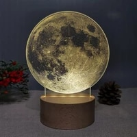 new creative nordic bedroom bedside 3d moon table lamp ornaments home atmosphere decoration props valentines day birthday gifts