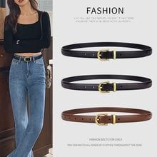 Belt For Women Cowskin Genuine Leather Fashion Jeans Waistband Fine Decoration Girl Lady Trouser Gir
