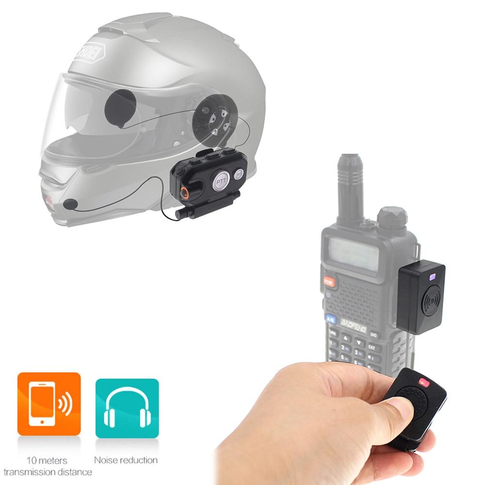 Walkie Talkie Hands-free Bluetooth PTT Headset Helmet K Plug  For Motorcycle Helmet Locomotive helmet Headset with Walkie Talkie