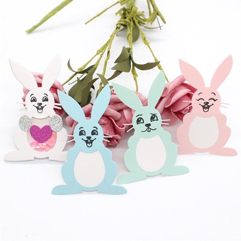 KLJUYP кролик лицо прозрачный штамп и вырезание штампы для DIY Скрапбукинг/изготовление карт/дети забавные украшения поставки