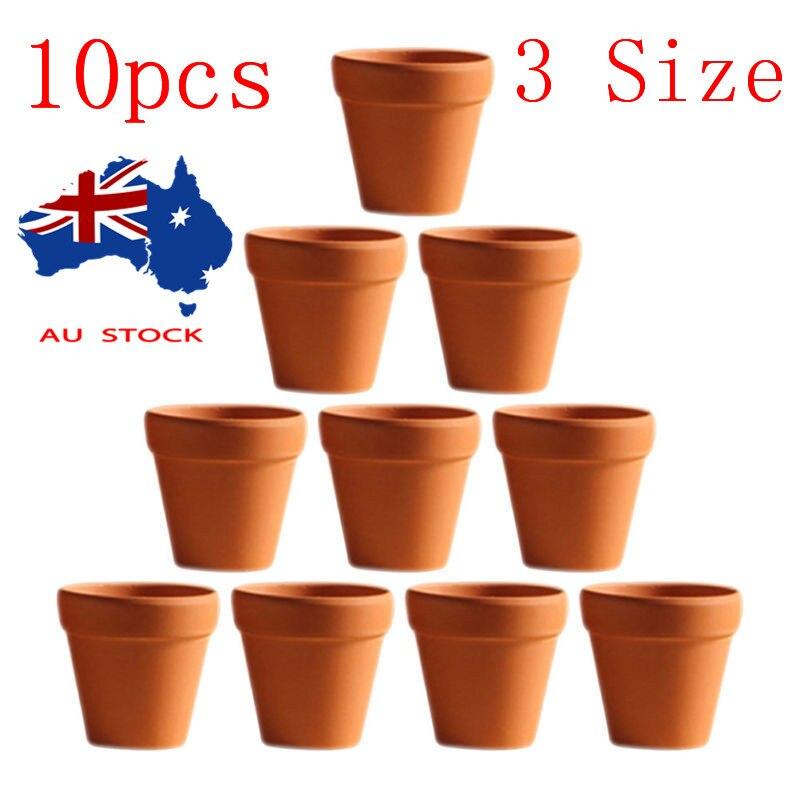 10 Uds 4,5x4cm Mini olla de terracota arcilla cerámica maceta Cactus macetas de flores macetas suculentas macetas grandes artesanías