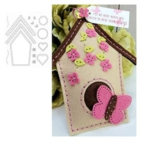 birdhouse metal cutting dies scrapbook diary decoration stencil embossing template diy greeting card handmade 2021 new products
