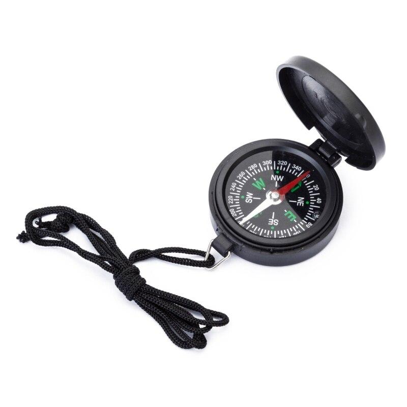 Карманные часы, складной компас, Портативный Компас для кемпинга, походов, навигации, автомобильный компас с ремешком, указатель направлени...