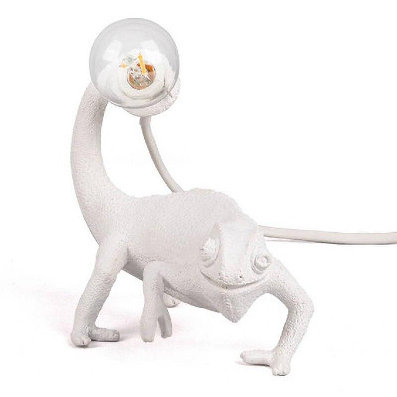 سيليتي الراتنج سحلية مصابيح طاولة لغرفة المعيشة غرفة نوم الحديثة الحيوان الحرباء لمبة مكتب Led ليلة مصباح ل ديكور غرفة نوم