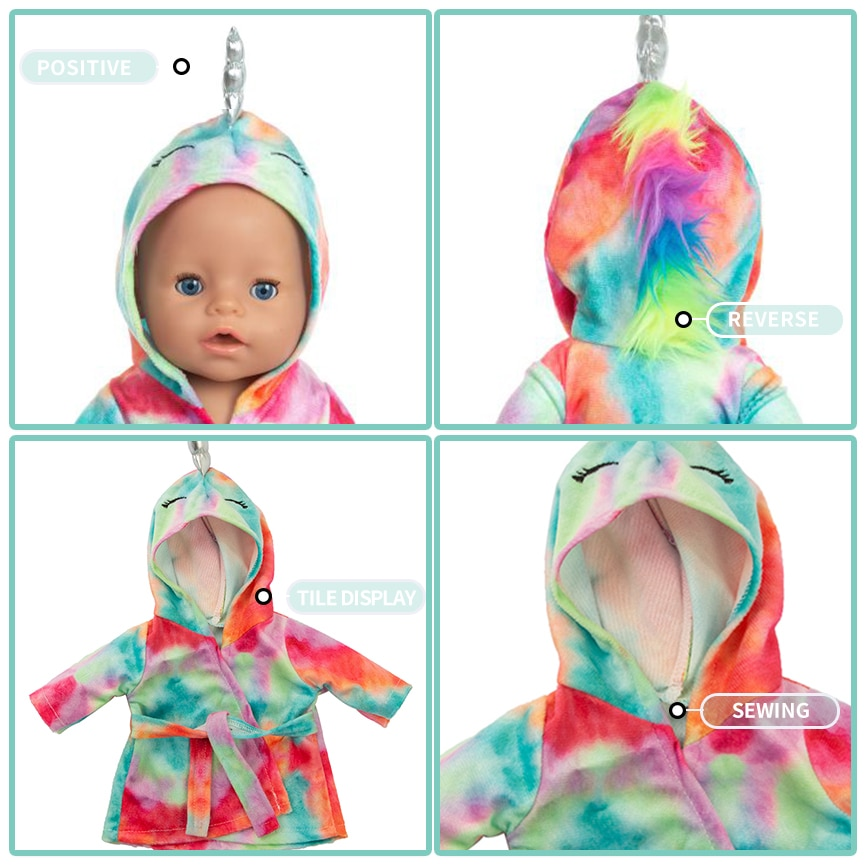 New Pony Suit Fit 17 inch 43cm Doll Clothes Accessories  For Baby Birthday Gift
