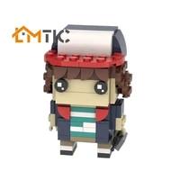 moc stranger brickheadz thing dustin simulation figure model building blocks diy 110pcs toys bricks educational xmas gift kids