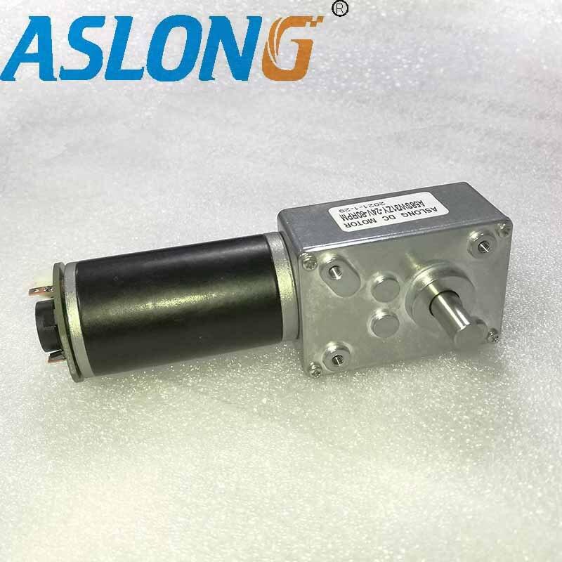 جهاز تشفير كهربائي أنبوبي 12 فولت تيار مستمر ، صندوق تروس دودة المحرك ، حامل مخفض المحرك 24 فولت PM dc ، محرك التشفير الصغير A58SW31ZYB