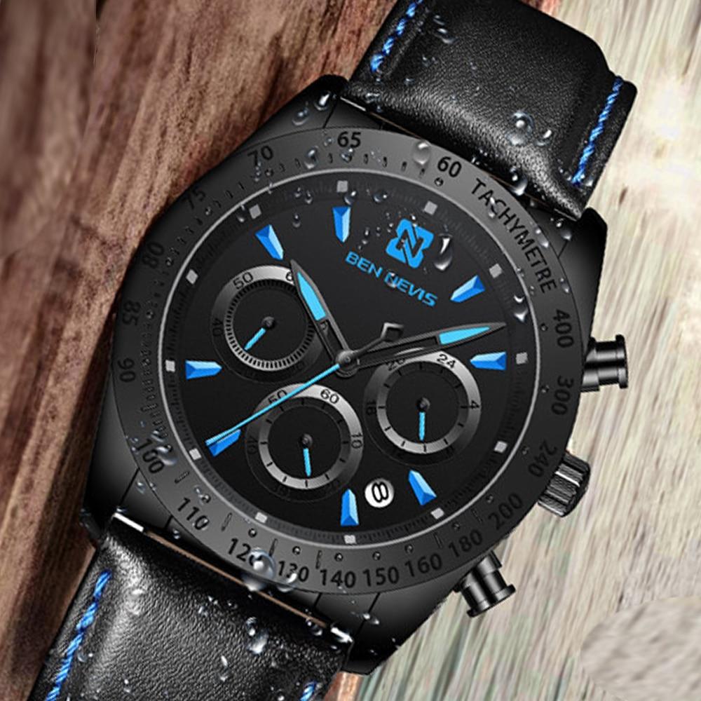 2021 Ben Nevis New Fashion Sports Men's Watch Shark-Style Military Casual Quartz Watch Male Clock Relogio Masculino Reloj Hombre