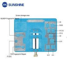SUNSHINE S-160J for iPhone8/7/6sp A8 A9A10A11A12 fingerprint repair/IC glue removal/Parts Storage Multi-function repair fixture