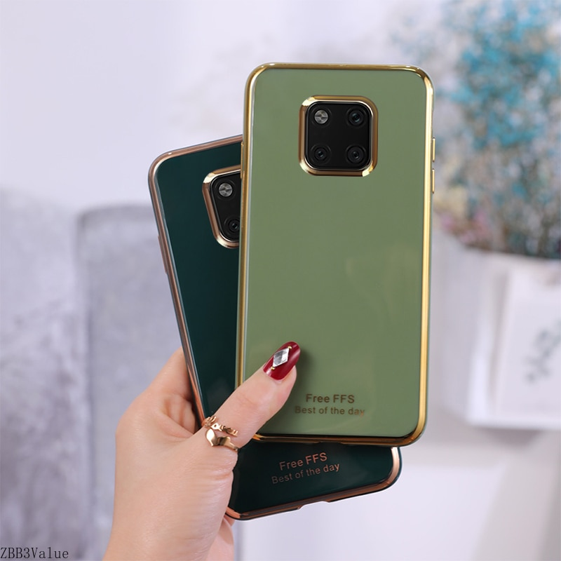 For Huawei Mate 30 Pro Mate 20 Case Plating Luxury TPU Soft Silicone Back Cover Phone case for P20 L
